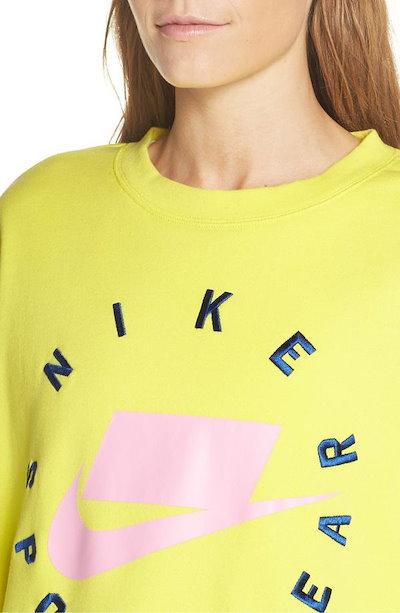 ナイキ レディース ニット・セーター アウター Nike Sportswear Logo Oversize Sweatshirt