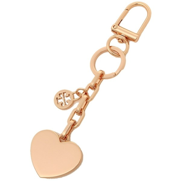 トリーバーチ キーホルダー TORY BURCH 41424 654 LOGO AND HEART METAL KEY FOB レディース バッグチャーム ROSE GOLD