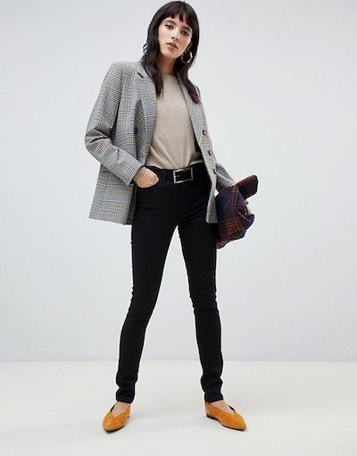 ウエアハウス レディース デニムパンツ ボトムス Warehouse skinny jeans in black