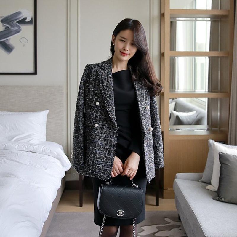 [2017 F/W 新商品] 高級ツイードの上着 ★ Clay ジャケット ★ 韓国ファッション BEST ♡ 送料無料 / ラグジュアリーアウター ♡