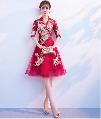 パーティー 結婚式 披露宴 二次会 お呼ばれ フォーマル ドレス ワンピース 秋冬新作 20代 30代 40代 大人 CGMS001133