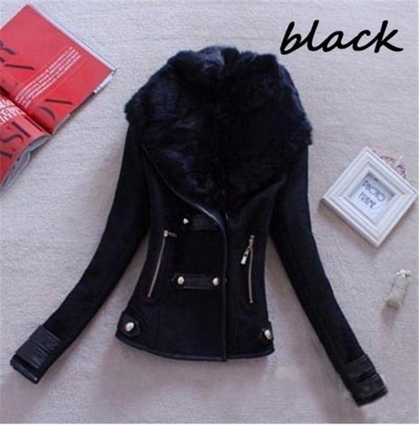 新しいファッション女性の冬の暖かいスリムウールは、アウターウェアのカラーコートジャケットS  -  XXXXXLプラスサイズをブレンド