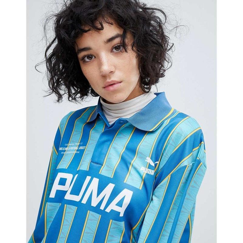 プーマ レディース トップス【Puma Exclusive To ASOS Football Jersey In Blue】Blue
