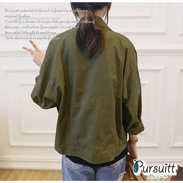 ジャケット レディース 秋冬 春 アウター シャツ ブルゾン ジャンパー 黒 白 薄手 デニムジャケット風 カジュアルシャツ感覚で羽織れるライトアウターです♪
