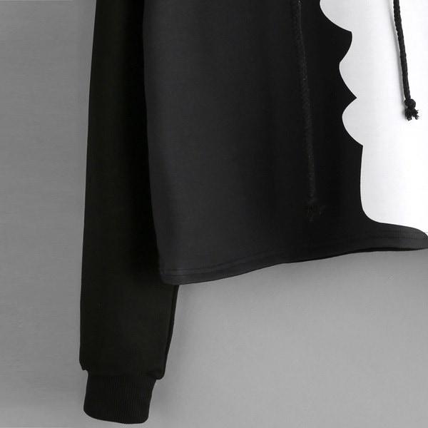 女性レディーススウェットフード付きロングスリーブトウモロコシパッチワークブラウスプルオーバートップス(S-XL)