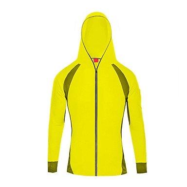 ユニセックスハイキングウインドブレーカークイックドライ紫外線防止通気性軽量トップキャンプ用/ H