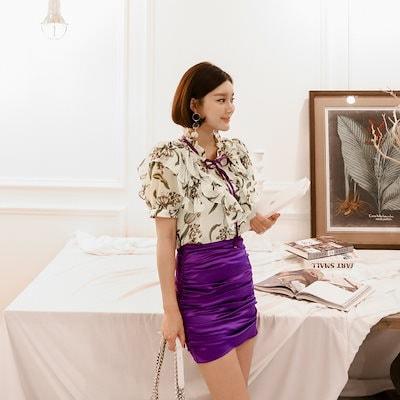 ♥大ヒット商品超特価♥韓国ファッション女性服1位『VIVARUBY』♡パヒュームリボンブラウス♡品質!  P0000YPS
