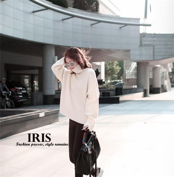 送料無料【IRIS】秋冬 ニットセーターレディース レディースセーター ニット ハイネック 無地 ふわふわ あたたかい 春 秋 冬物 起毛にくい フリーサイズ