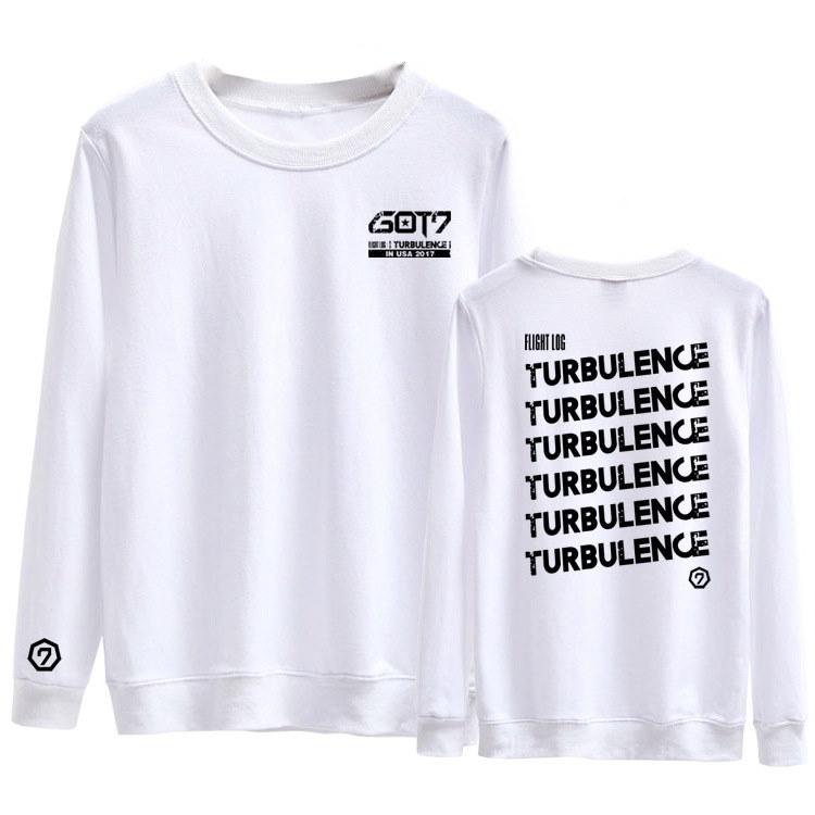 GOT7(ガットセブン、ガッセ) コンサートFLIGHT LOG 応援服 TURBULENC/長袖パーカー/トレーナー/JB/JR/Mark/Youngjae/BamBam/ガットセブン 同スタイル