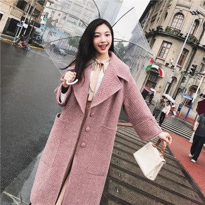 2017冬  コート  レトロ   ジャケット  冬ラシャコート ロング丈 レディース アウター  韓国ファッション