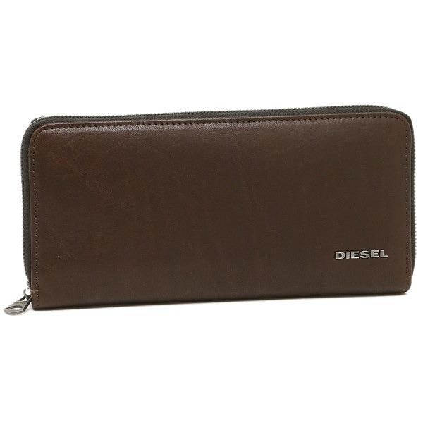 DIESEL 財布 ディーゼル X04145 PR013 H6030 メンズ 長財布 ブラウン/オリーブ