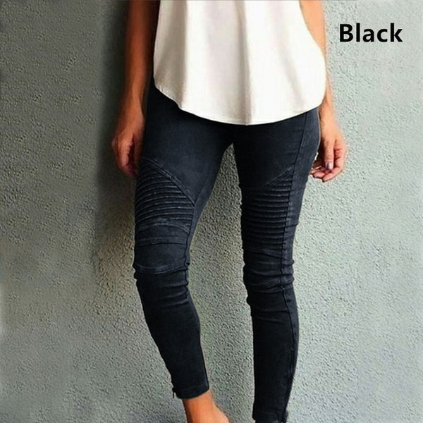 新しい女性ファッションカジュアル4色ソリッドペンシルスリムレギンスズボン弾性パンツ