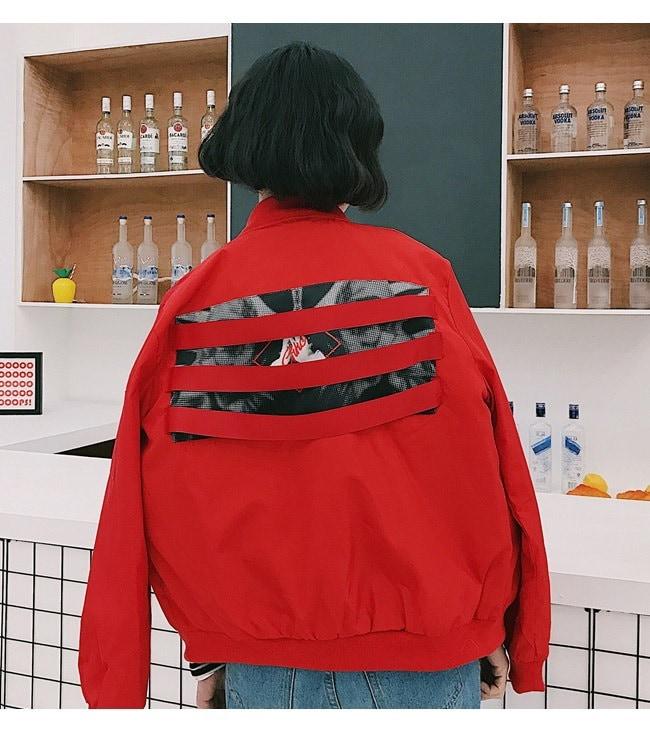 アウター ジャケット 上着  大きいサイズ レディース 可愛い 羽織 女性 オーバーサイズ 秋服 お洒落 スカジャン ウインドブレーカー 無地 帽子 ブルゾン フルカラー