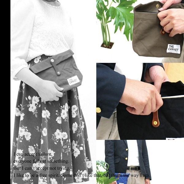 THE CANVET (ザ・キャンベット) キャンバスポーチM [メンズ/レディース] [日本製 バッグ ポーチ bag キャンバス 男女兼用 春 夏 秋 冬] [メール便OK] (FRCN)