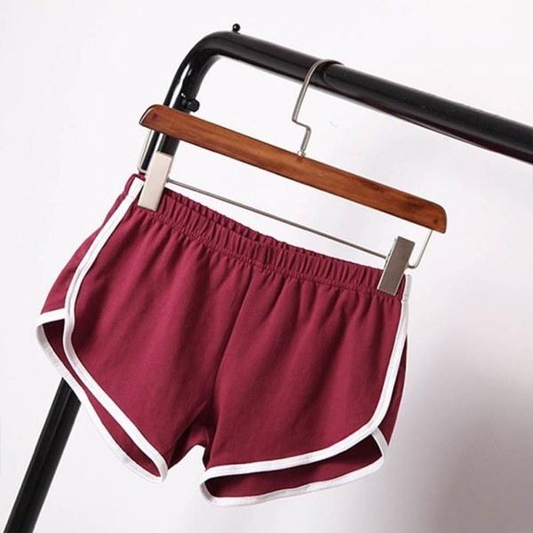 サマーショーツ女性スポーツファッションショーツジムワークアウトウエストバンドスキニーショート