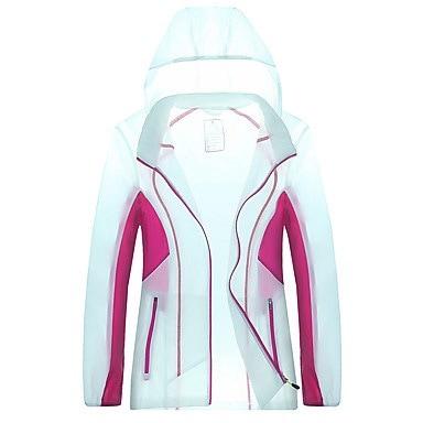 女性のユニセックスハイキングジャケット防水速乾性防風性紫外線防止抗エラディーティ