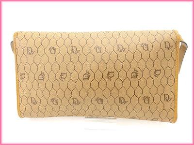 Diorクリスチャン・ディオール Christian Dior ショルダーバッグ ベージュ PVC×レザー (あす楽対応)ヴィンテージ 人気【中古】 N170 .