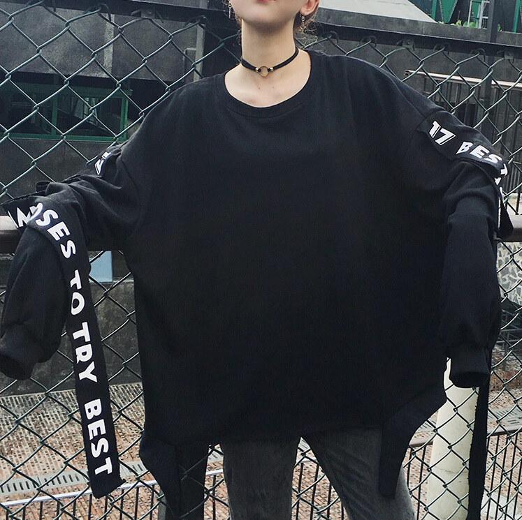 新しいbf原宿オーバーサイズフード付きボンバージャケット女性レタープリントユニセックスジャケット緩め特大基本コートジャケット女性