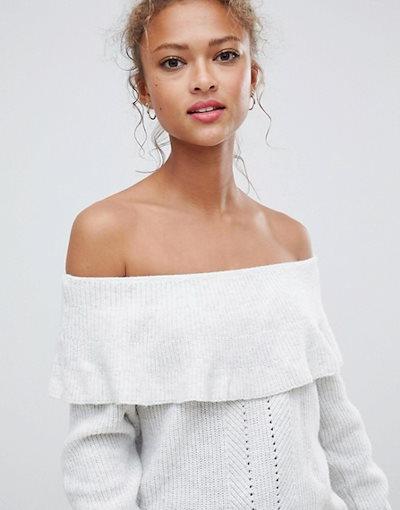 ブレンドシー レディース ニット・セーター アウター Blend She Damon off shoulder knit sweater
