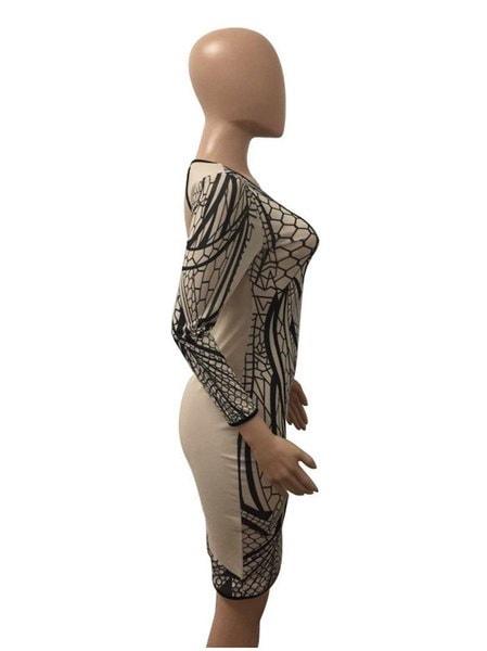 Women Bandage Bodycon Slim Long Sleeve Evening Party Cocktail Pencil Mini Dress