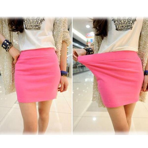 女性のセクシーなミニスカートスリムシームレスストレッチタイトショートフィット鉛筆スカート