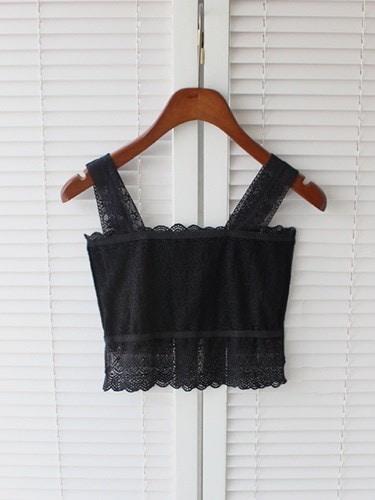 Sexy Women Lace Strap Sleeveless Tank Top Shirt Vest Blouse Crop Top