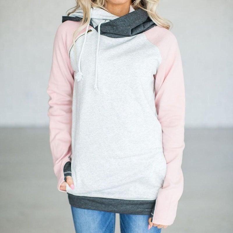 新しいファッション秋冬の女性のスウェットロングスリーブプルオーバーの女性は、暖かいパーカーOWS2898を印刷します。