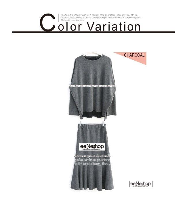 ★送料無料★バックテールカットソー フレアスカート セットアップ レディース 韓国ファッション ワンピース Tシャツ バッグ リュック パーカー