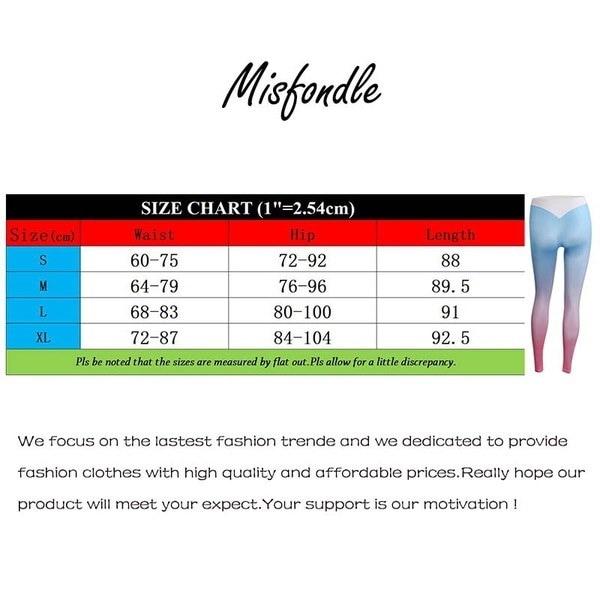 Misfondle Women s Fashion Breathable Gradient Color Fitness Leggings Yoga Pants 3 Colors