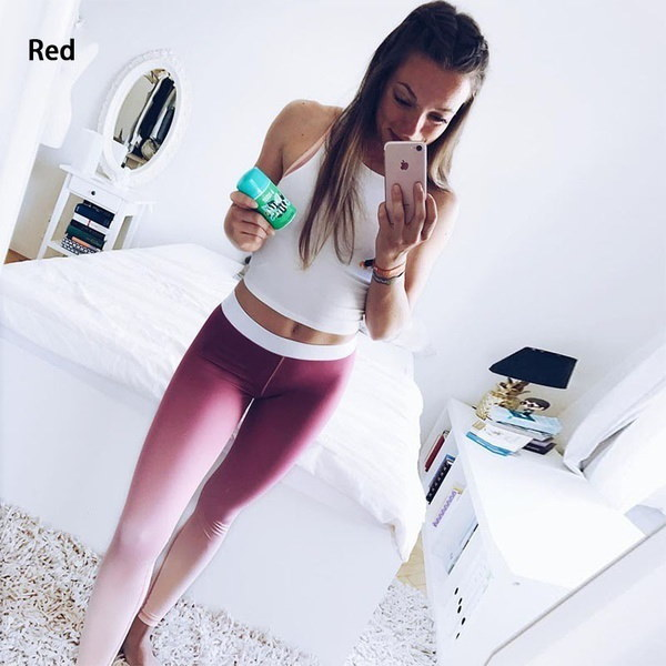 Misfondle Women s Fashion Breathable Gradient Color Fitness Leggings Yoga Pants 3 Colors