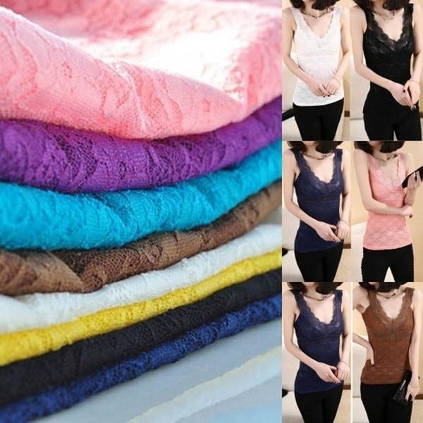 女性のセクシーなレースの花のTシャツタンクトップノースリーブのストレッチのかぎ針編みのベストブラウス