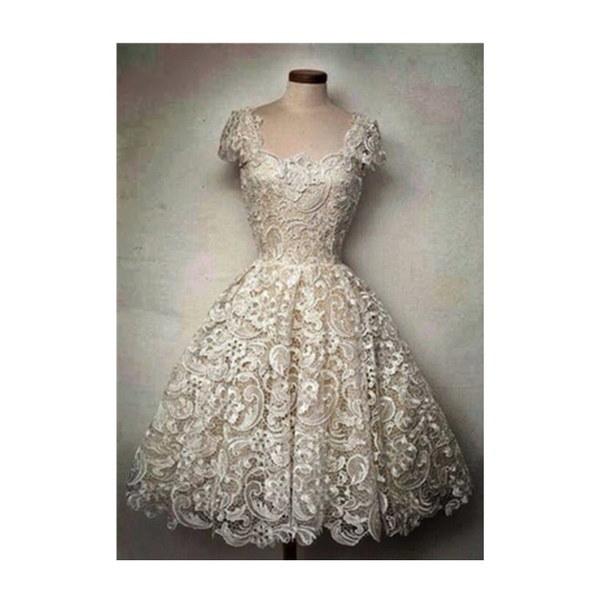 ホットセールレース花の中空女性のドレス半袖OネックレディTuTuドレススリムプリンセスドレス