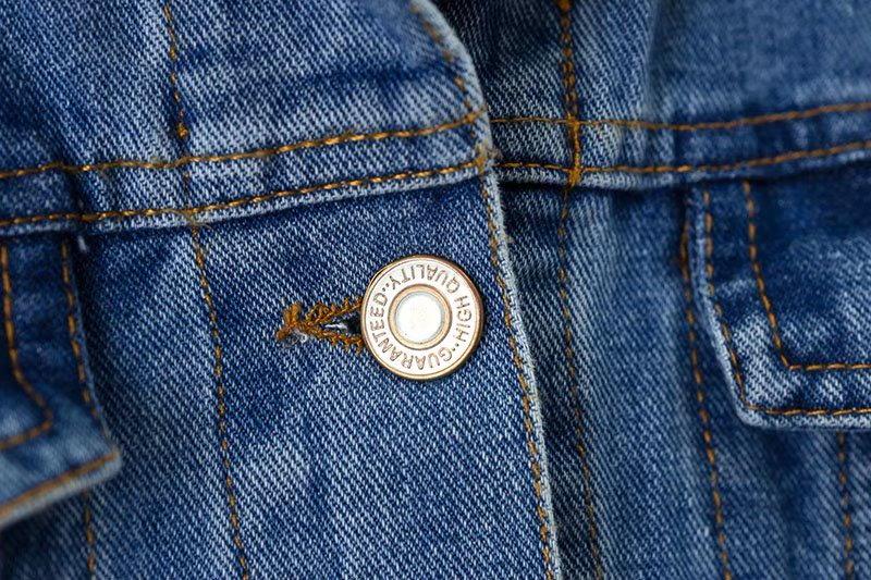 秋ゆったり取り外し可能なフード付きの短いセクションのBF風洗いデニムの服