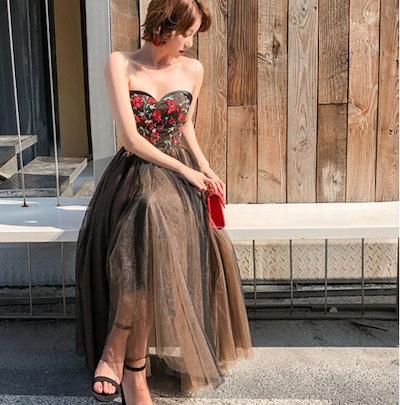 結婚式のドレス 結婚式 お呼ばれドレス ロング 20代 30代 40代 大きいサイズ パーティードレス 二次会 ワンピース ドレス お呼ばれ 結婚式二次会 K695