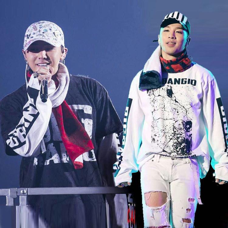 翌日発送 ✨ BIGBANG10周年G-DRAGON とSOL着用長袖★品質保証★ FASHION STYLE 長袖G-DRAGON コラボスタイル!男女兼用 /bigbangファッション