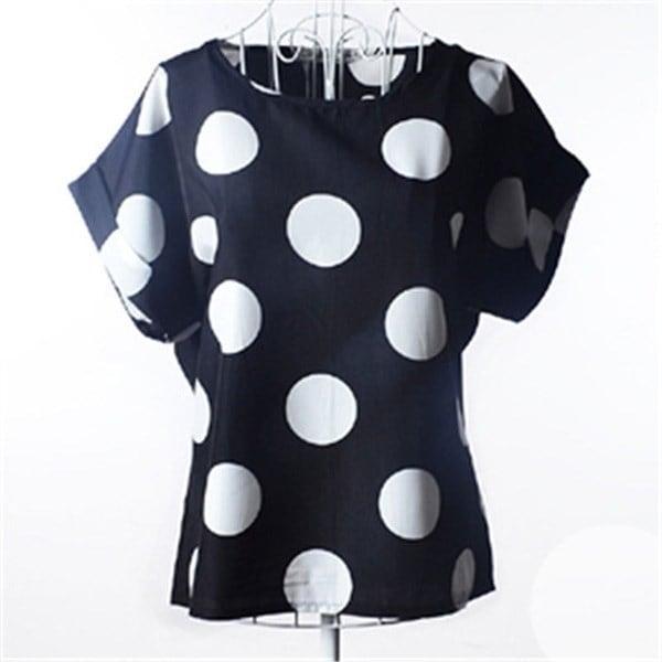 新しいファッション夏の女性プリントシフォンシャツヴィンテージバードと19スタイルバットウィングスリーブTシャツトップ