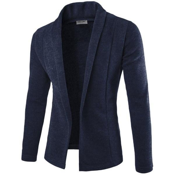 新しいシンプルなカーディガンセータースリムジャケットメンズVネックニットシャツ