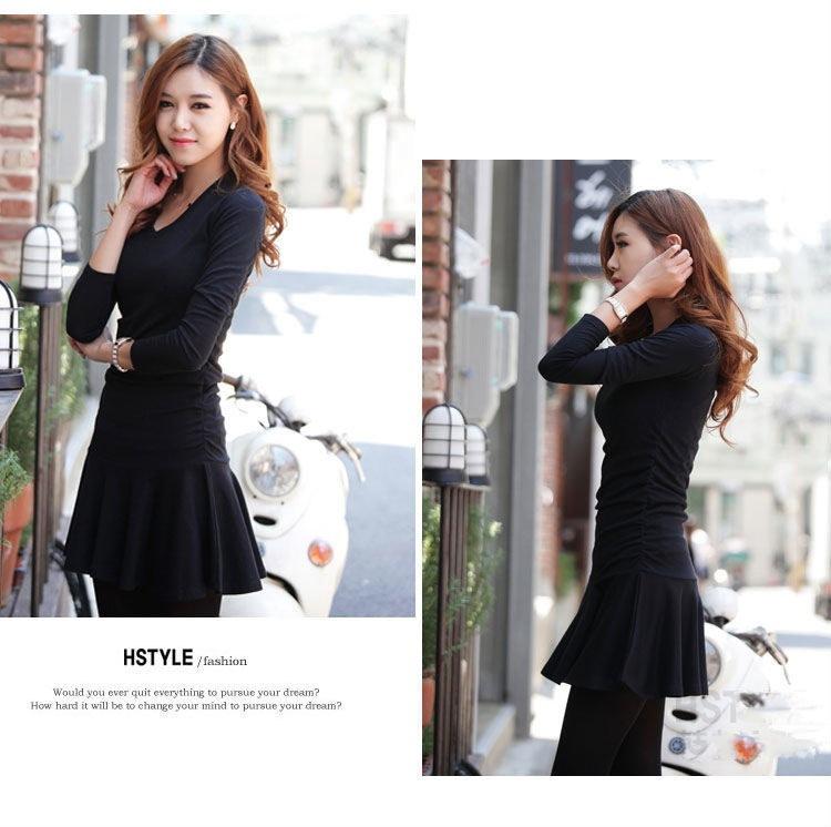 韓流系!ファッション☆個性的!シングルワンピース☆2色♪ドレスワンピ 送料無料♪ ※納期に10日から14日ほどかかります。