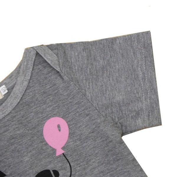 2017新しい夏の新生児の女の子ロンパーパパの姫の手紙灰色の半袖ジャンプスーツベイビーボー