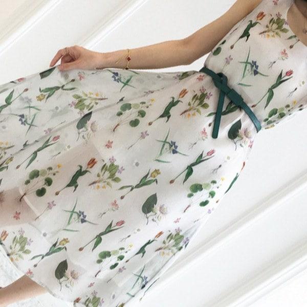 フェミニン ワンピース 花柄 ワンピース ノースリーブ ワンピース フォマール ワンピース 春夏 レディース