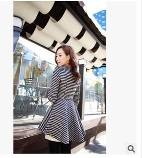 Women Korean Dovetail Slim Wool Coat Ladies Designer Irregular Long Blazer Winter Outwear Female Sui