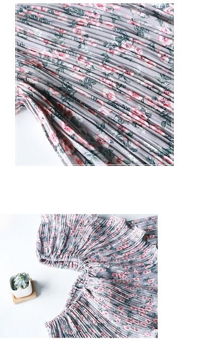 小花柄 2way ワンピース くしゅくしゅ 伸縮 マタニティ 夏ドレス 可愛い セクシー シフォン ストラップレス レイヤード 大人スタイル