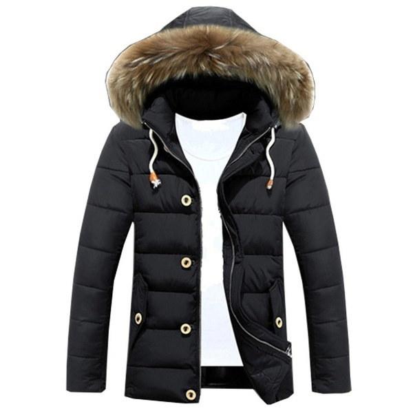 Hiver Manteau Hommes Doudoune Veste Jacket Blouson Trench Coat Capuche Parka