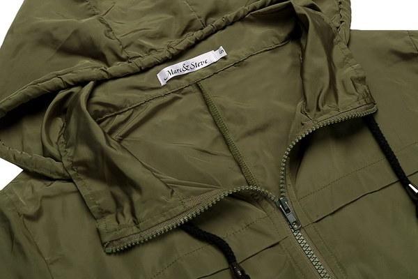 Plus Size S-XXLWomens Lightweight Hooded Waterproof Active Outdoor Rain Jacket Waterproof Skin Rain