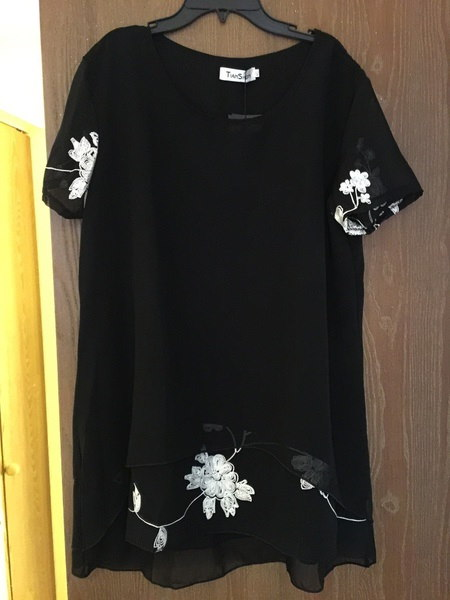 新しいセクシーなファッション女性ルーズシフォントップ半袖シャツカジュアルブラウス