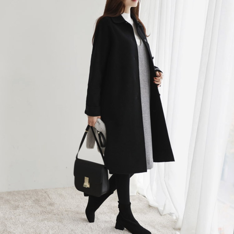 [CHICHERA]★送料無料★韓国ファッションサイトNo.1 /デイリーロングハンドメードコート
