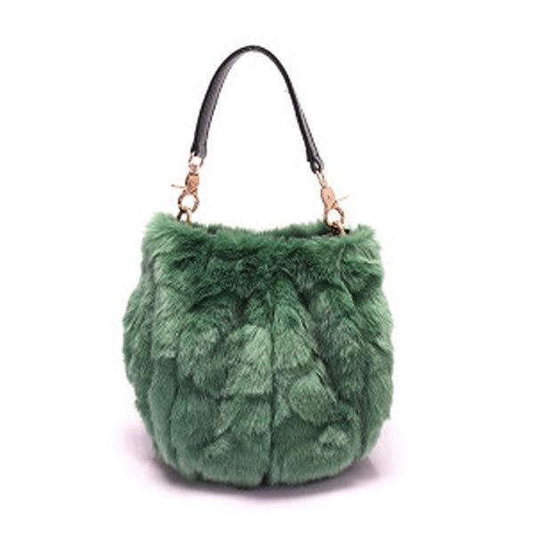 【予約 / 送料無料】ファッションでフワフワレディースバッグ/ポケットバッグ/毛の鞄/ショルダーバッグ/ハンドバッグ/-9 colors