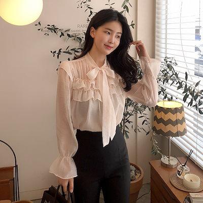 [BENITO ベニト] Sophie Frill(Skin Beige)ブラウス★ 韓国ファッション/配/ 春の華奢なルック