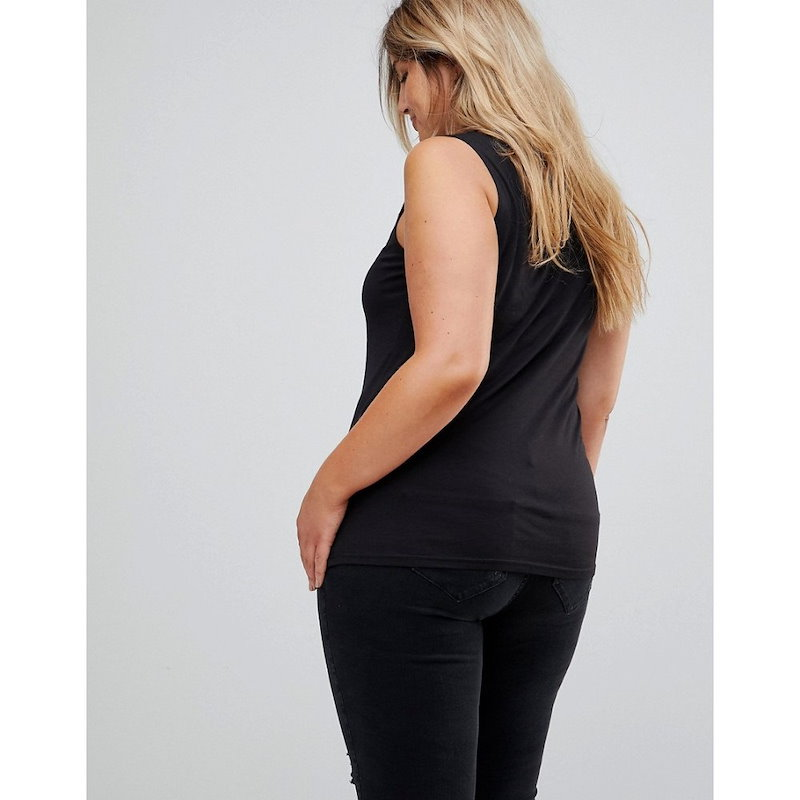 ニュールック レディース トップス【New Look Curve Embroidered Studded Shell Top】Black