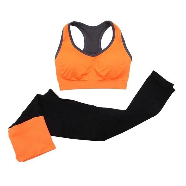 フィットネスワークアウトウェア女性用ジムスポーツランニングガールズスリムレギンス+トップス